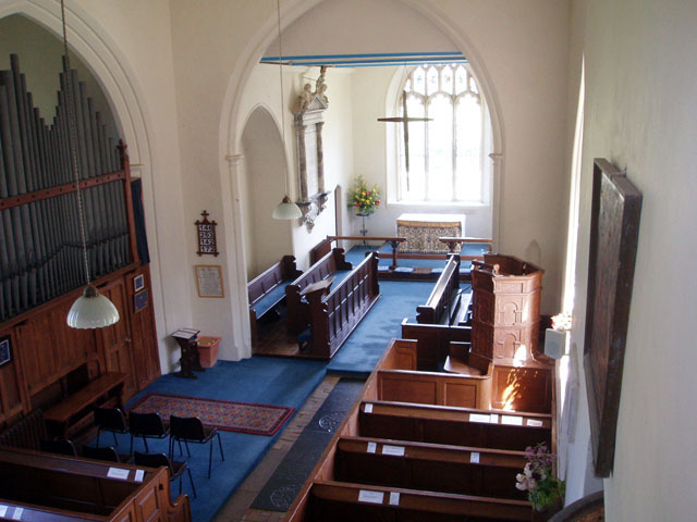 Inside St. Mary's Church, Benhall 2008